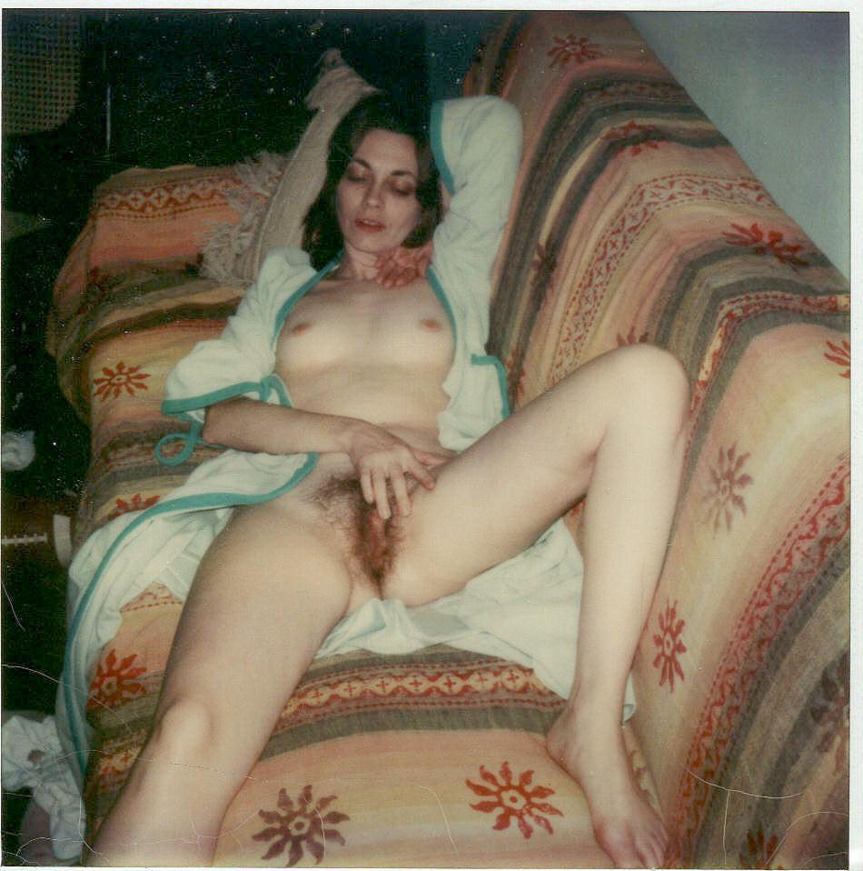 nude wife hairy pussy polaroid Vintage