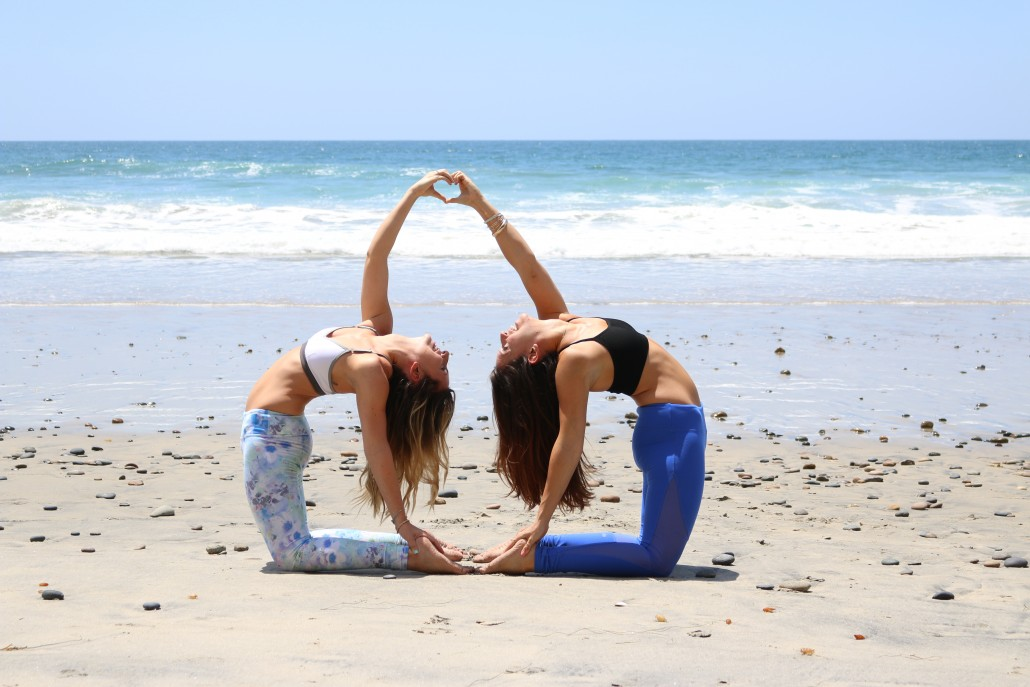 yoga Two poses person