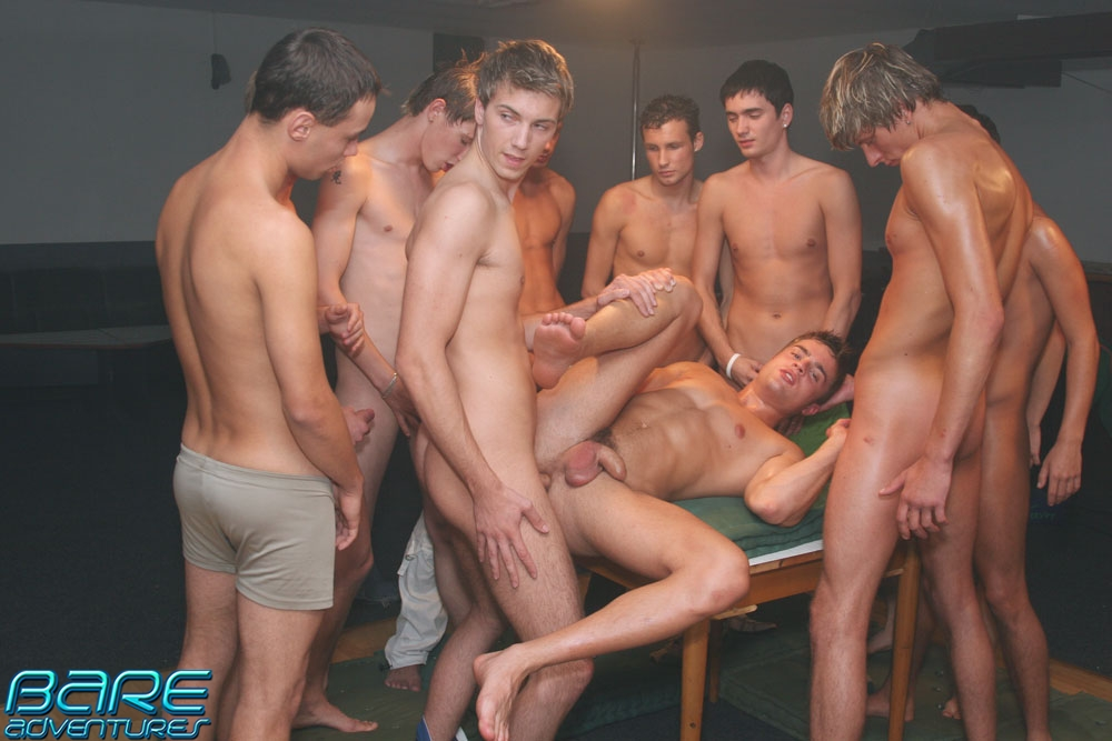male videos group bareback Gay