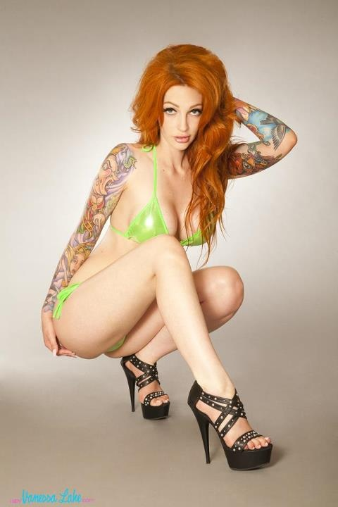 nude Redhead vanessa lake tattoo model