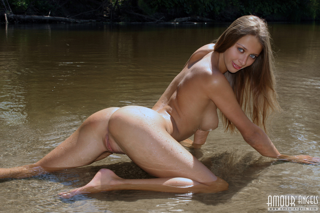 nude Kristina water amour angels and sand