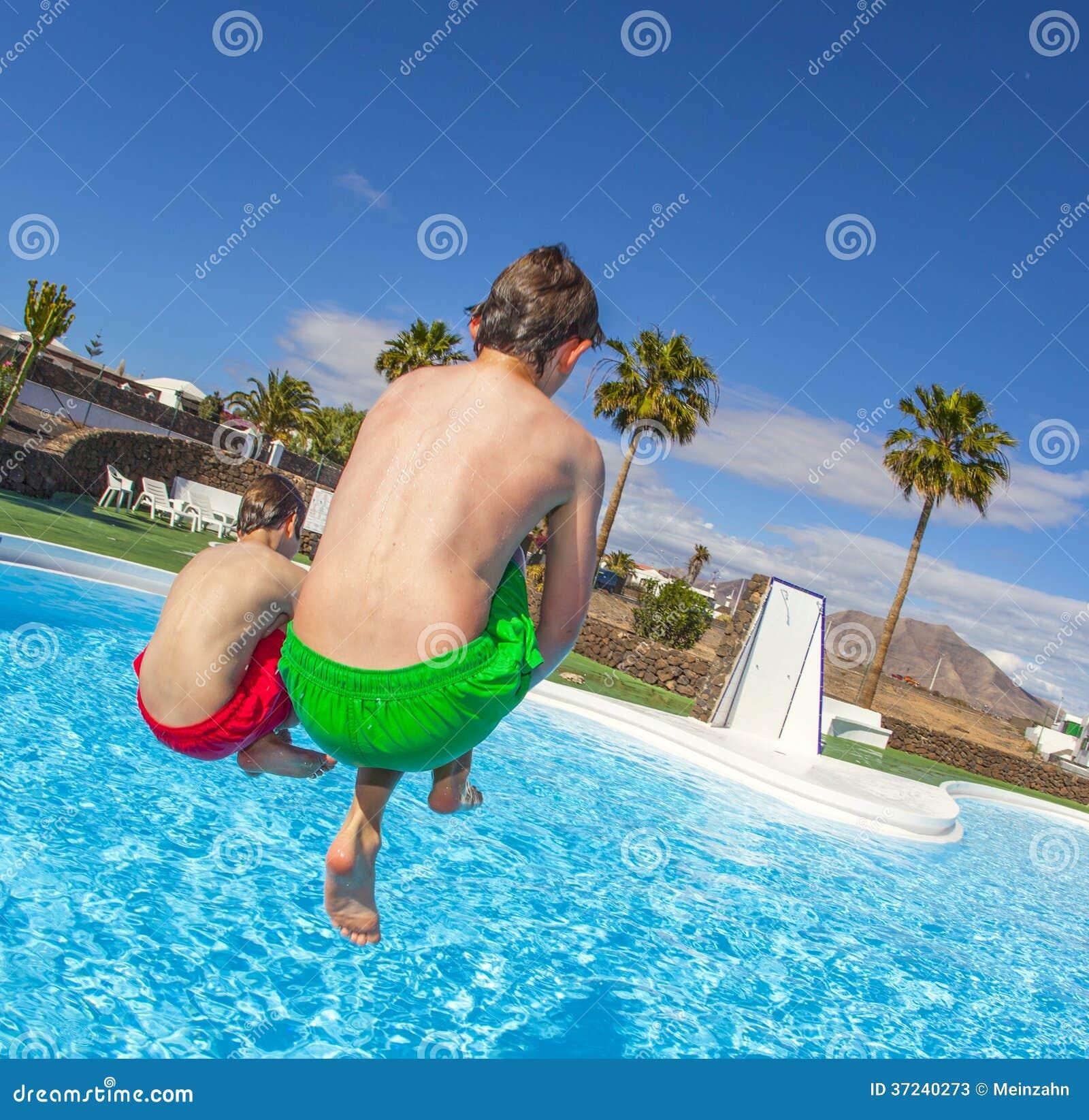 pool at Teen boys