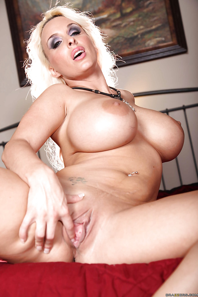 blonde milf tits Holly halston with big