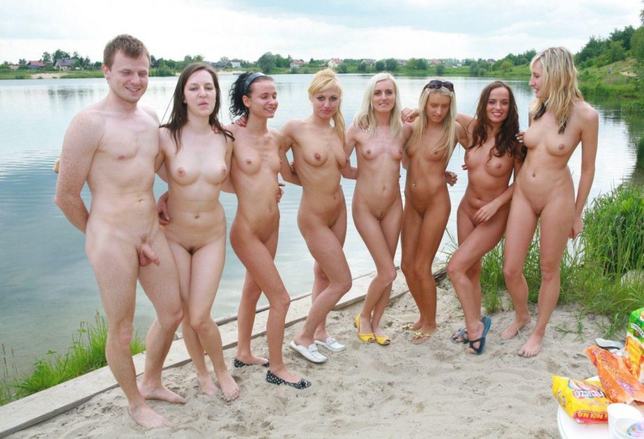 pussy Nudist fun beach