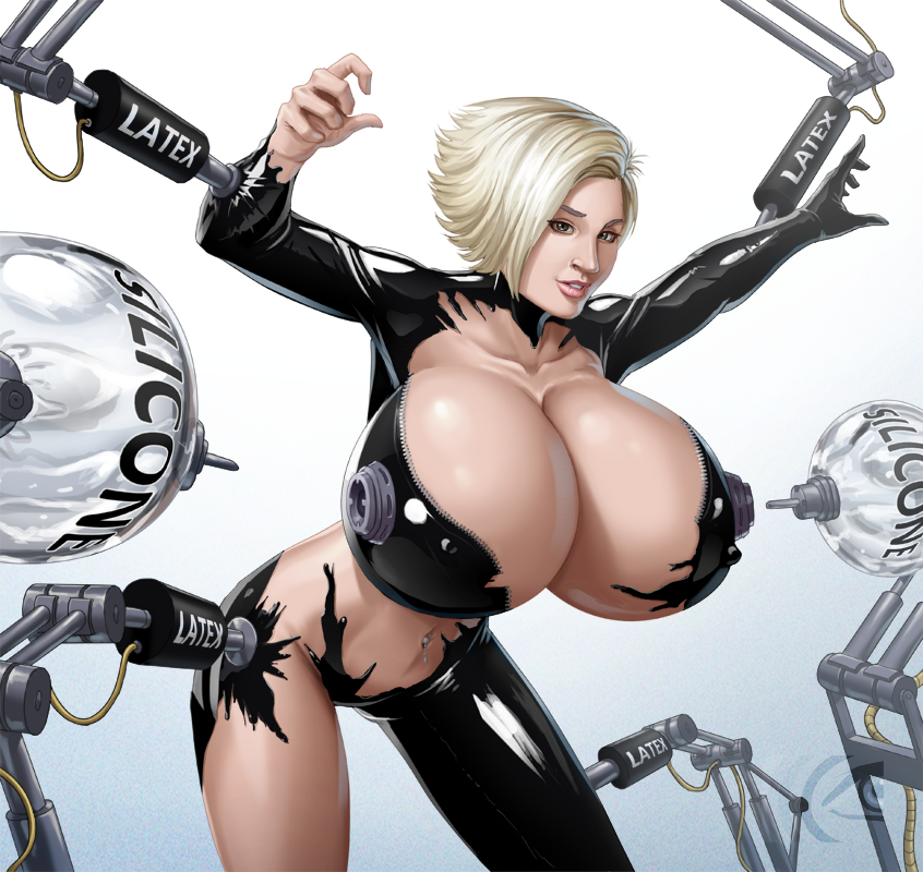 girls latex Hot big boobs