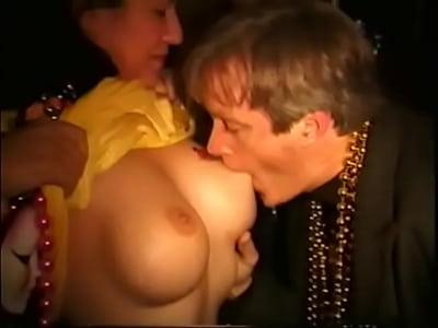 boobs Mardi gras sucking girls