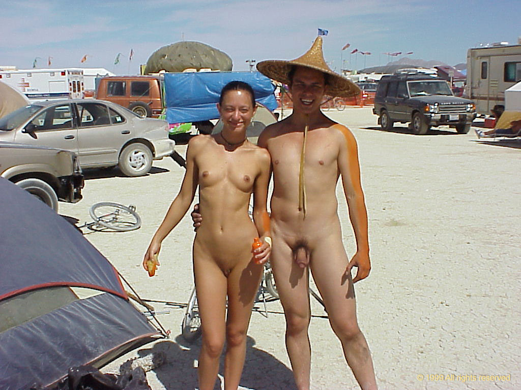 burning Nude man male