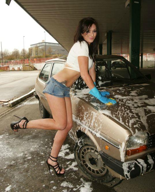 wash shirt Wet nude car t