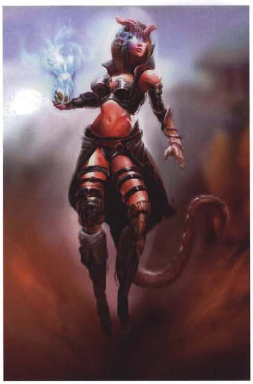 female Neverwinter tiefling