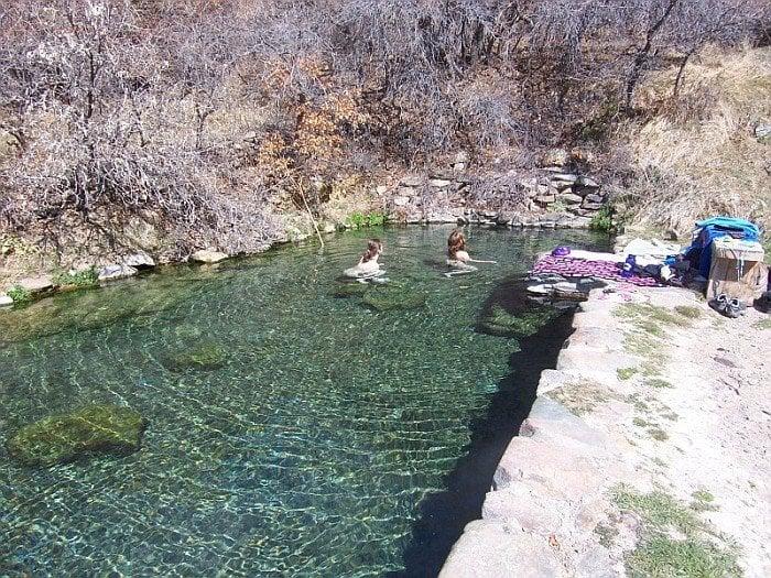 colorado Valley springs view hot