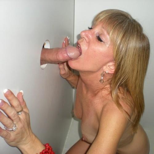 gloryhole Mature wife
