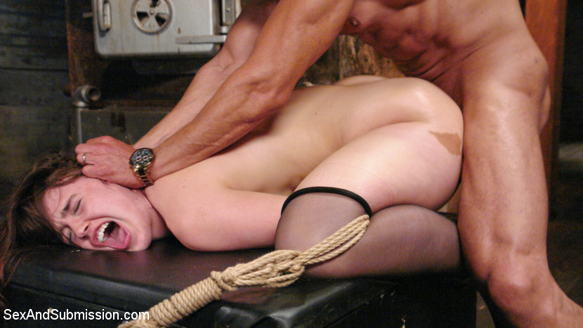 Bitchy detective is interrogating a man using bondage, pussy licking, anal sex and other cruel femdom things
