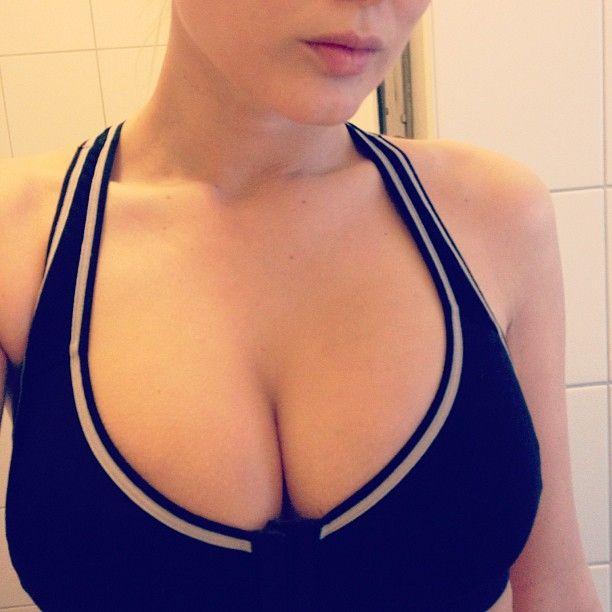 bra cleavage in sports Girl