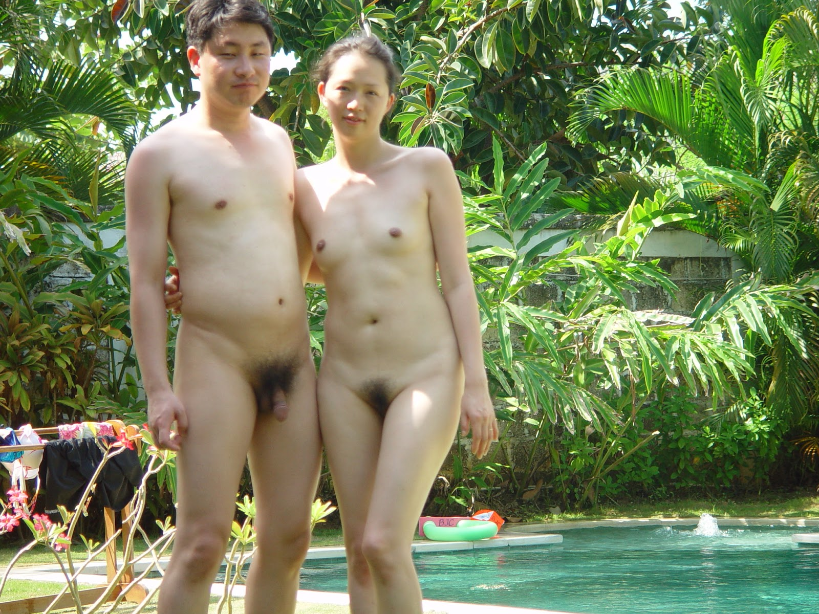 honeymoon naked My wife