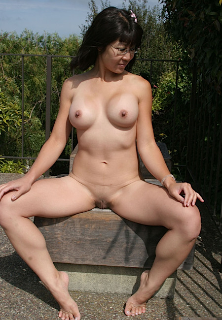 asian nude outdoors Busty