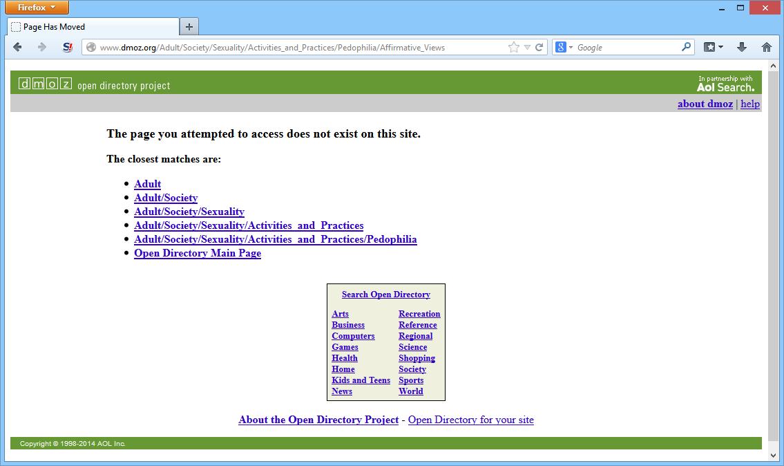 site Adult dmoz.org