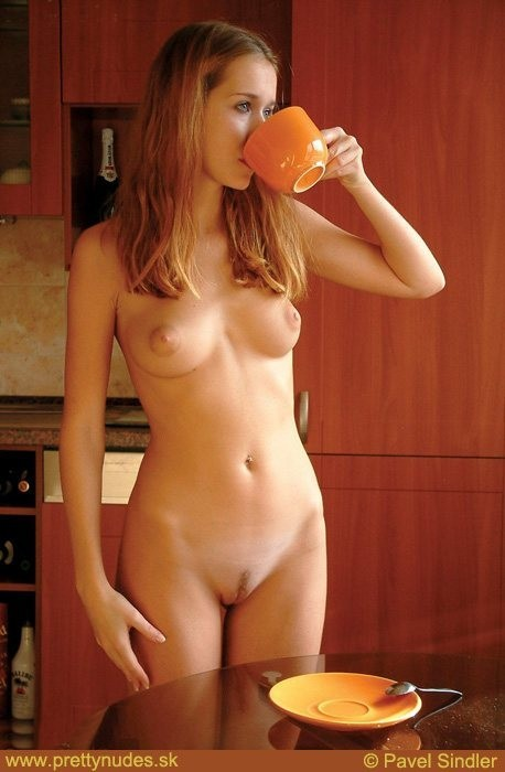 You inquisitive Girls naked drinking coffee can