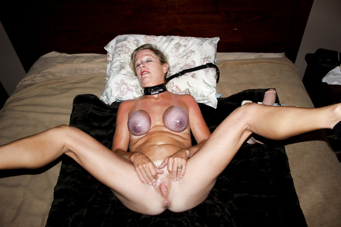 tied My tits wives big
