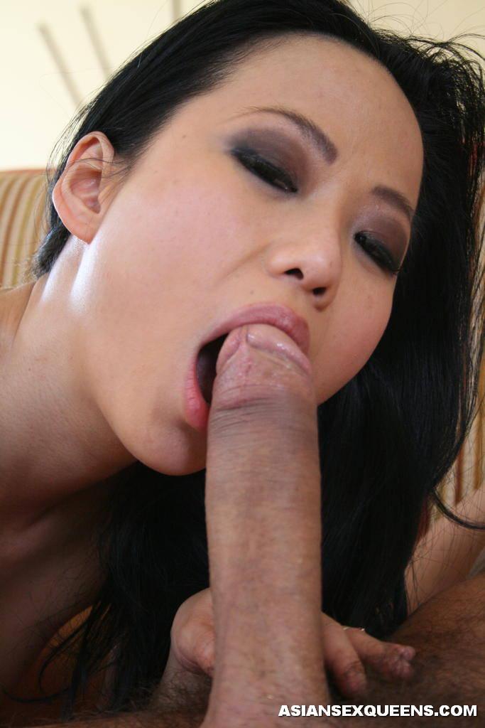 black big Asian sucking cock women