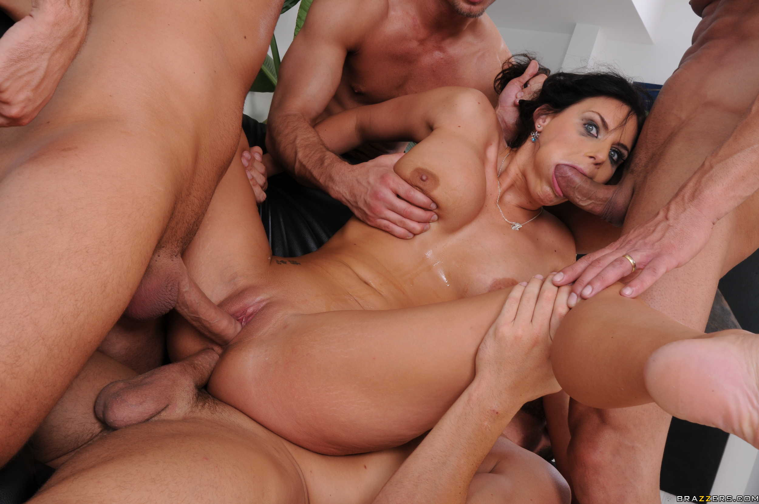 3 internet strangers come over to gangbang wife - 3 part 10
