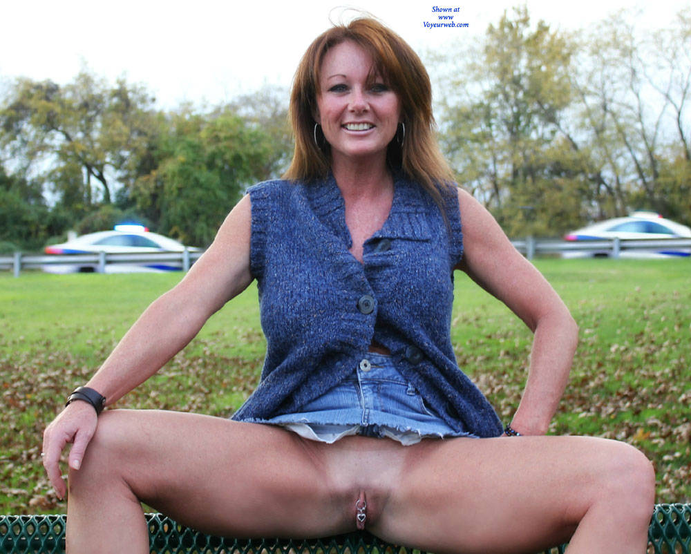 wife public flash Mature pussy