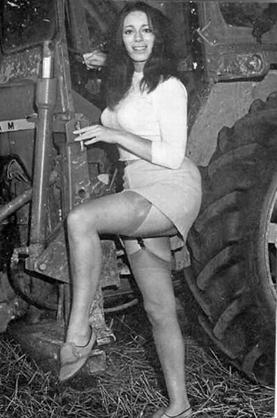 stocking Vintage porn upskirt