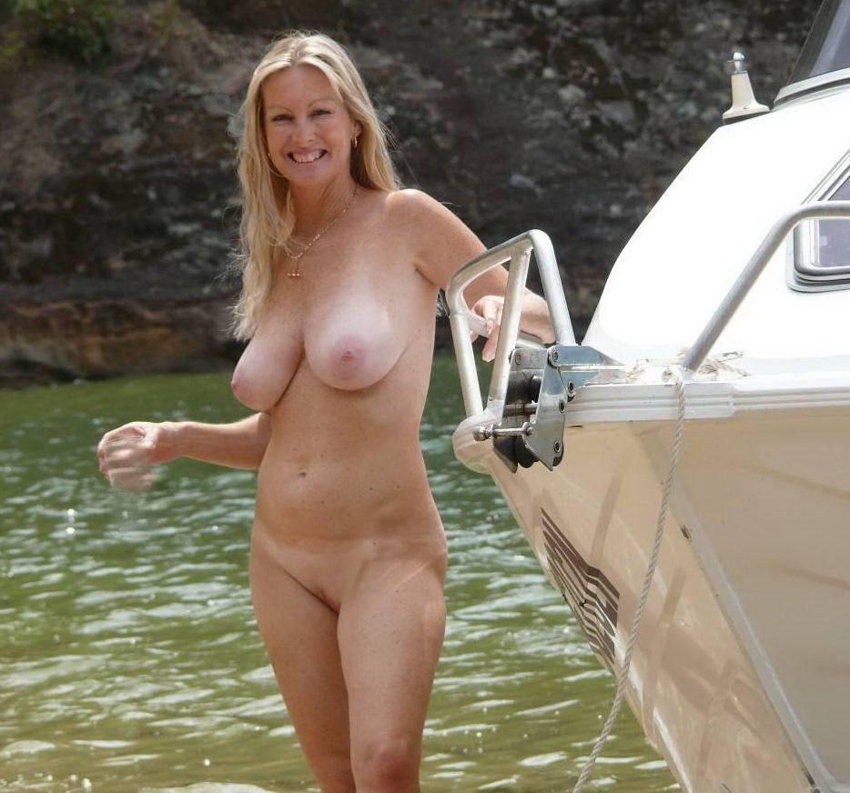 tan Nude lines boat blonde
