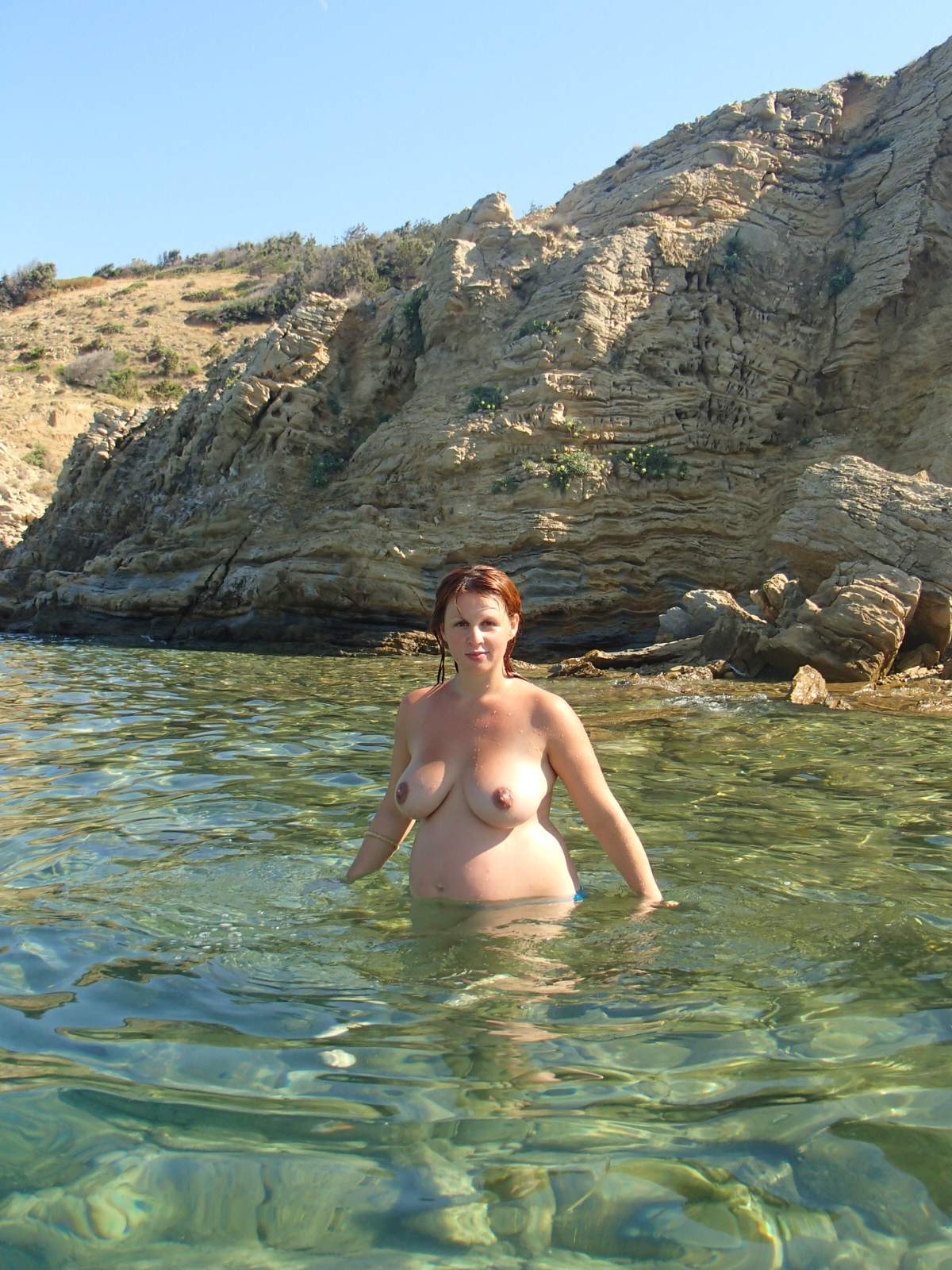 nude Pregnant outdoors wife