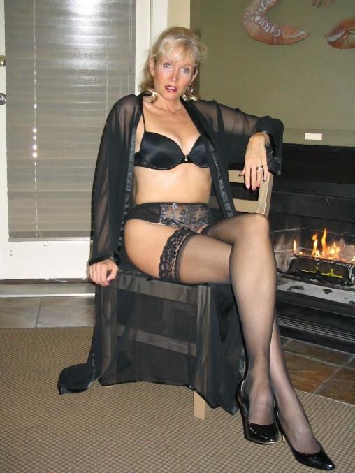 bra Wife and panties posing