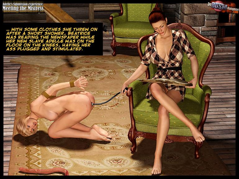 girl Blonde slave