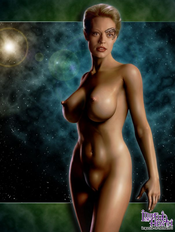 naked seven of Star trek nine