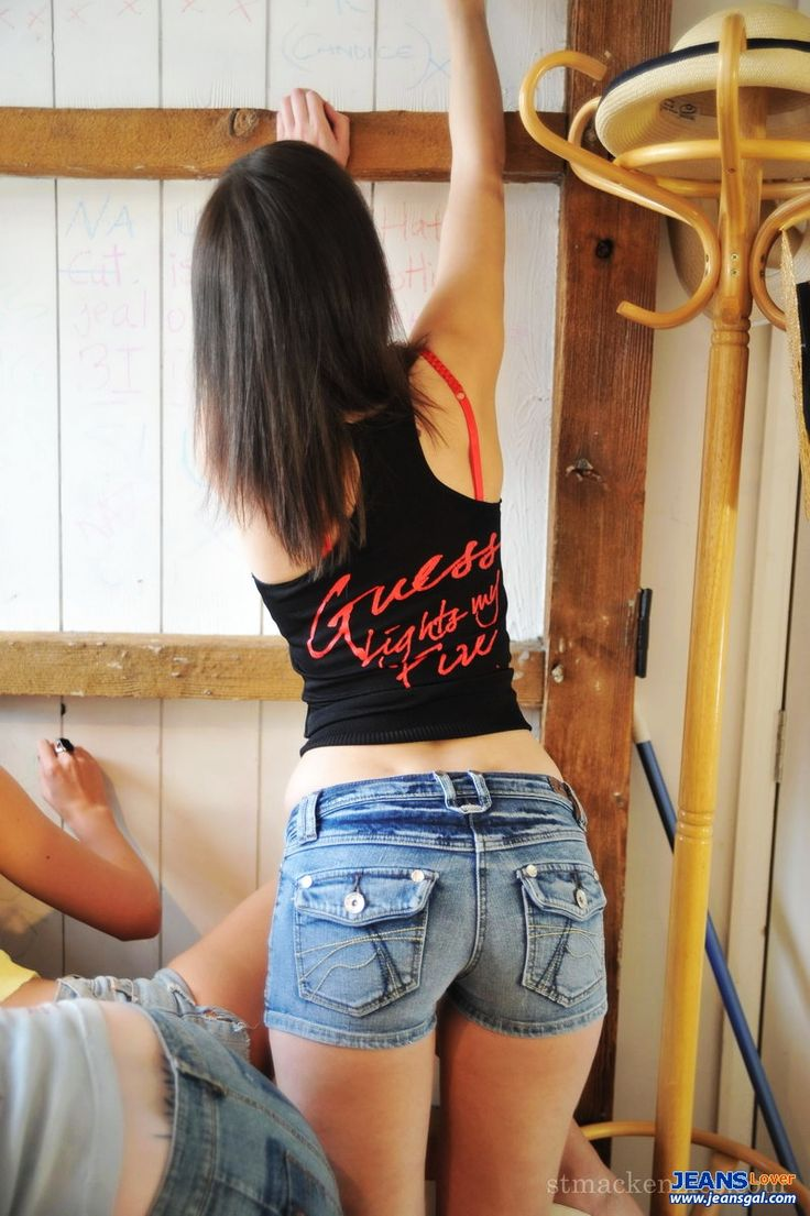 tight ass shorts Girl jeans