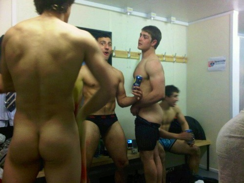 locker naked Rugby room