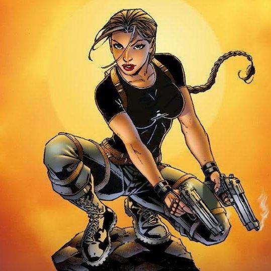 book Big female character comic