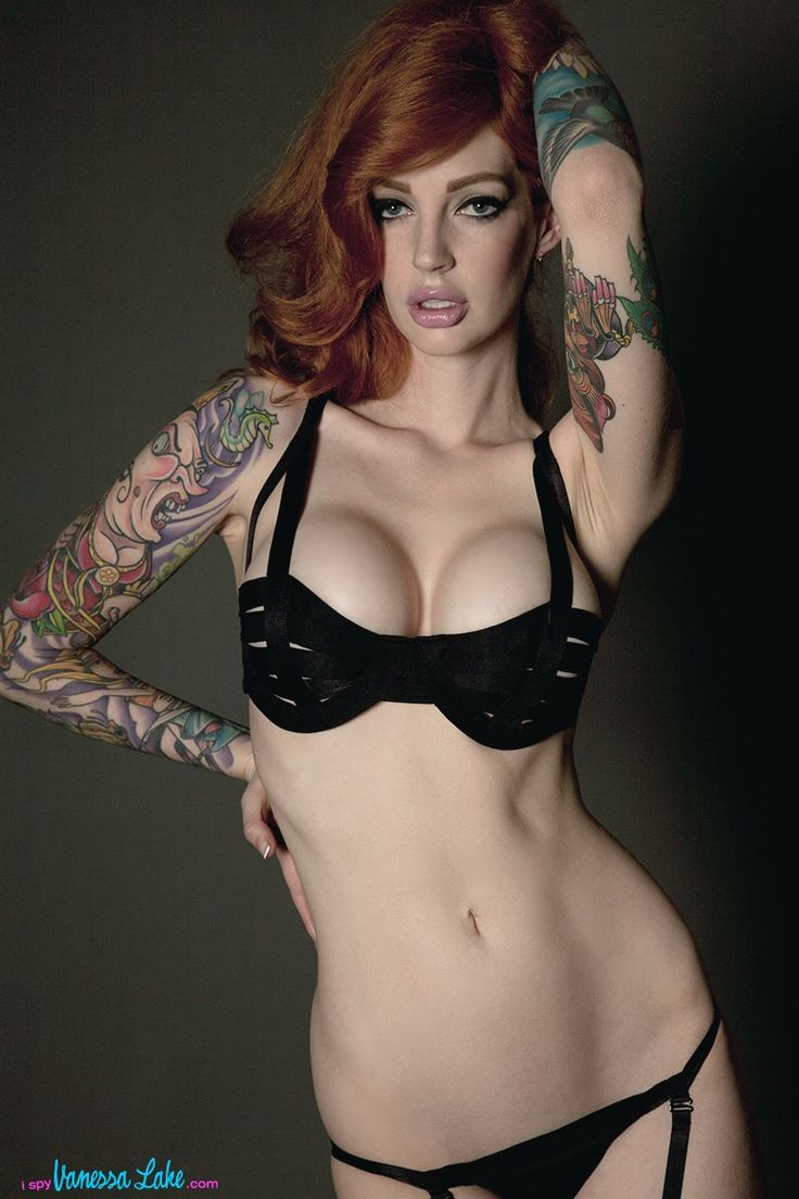 nude Redhead vanessa lake tattoo model