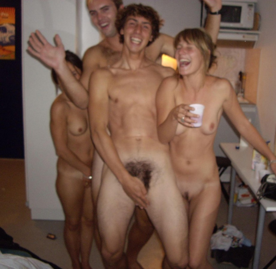 strips party Drunk at college girl