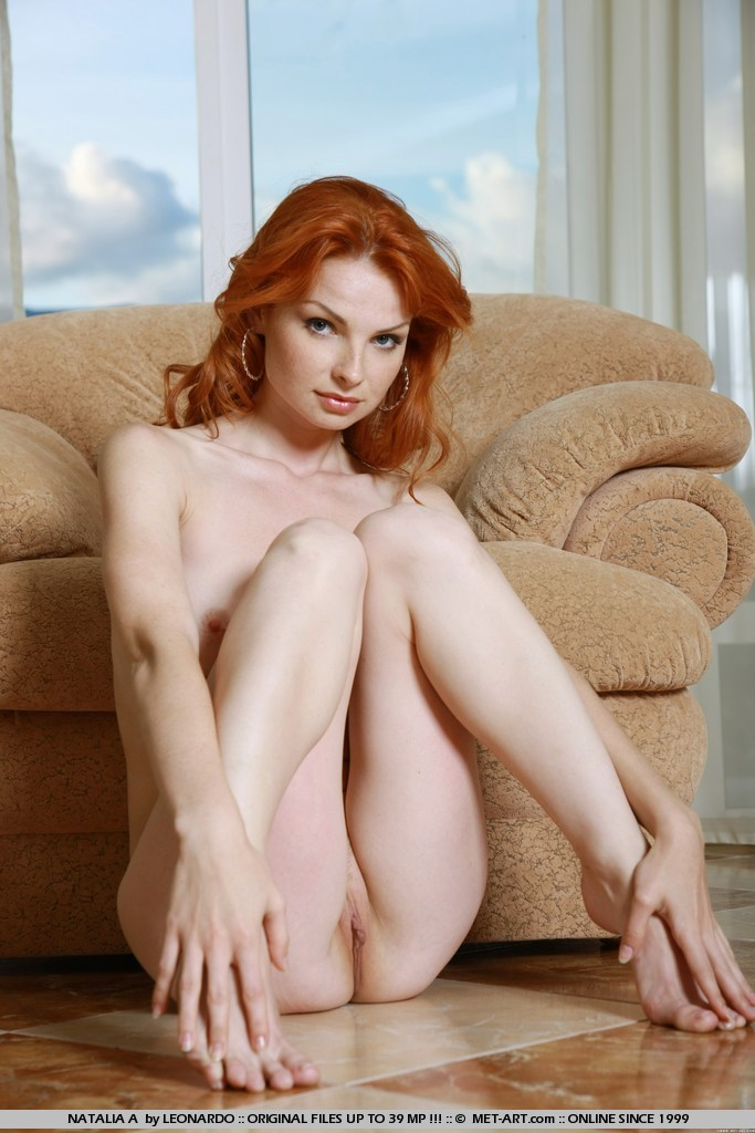 nude and redhead and Met art