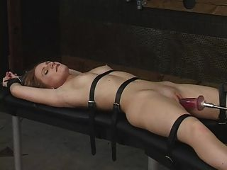 bound by Girl machine fucked and