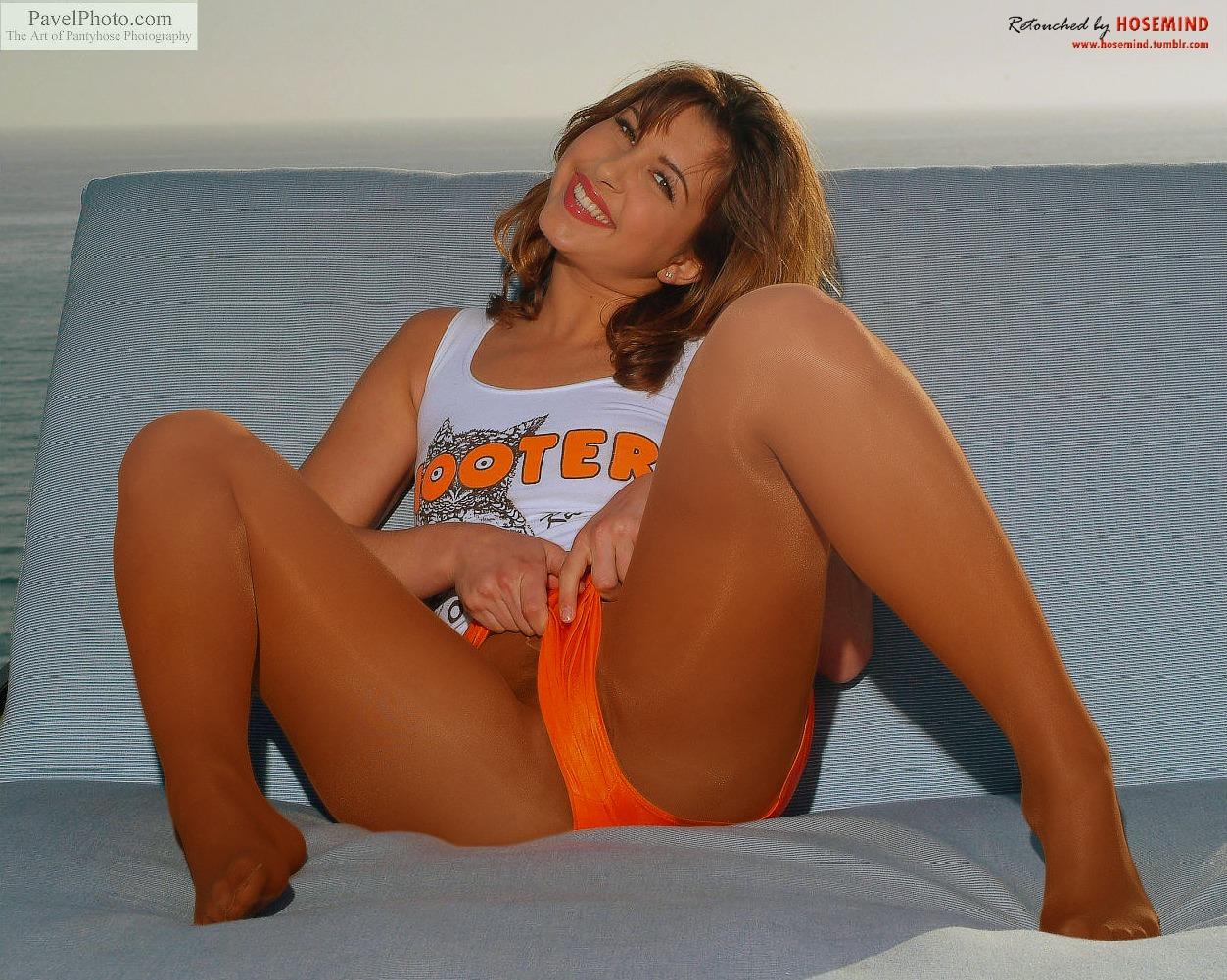 pantyhose Starr hooters real