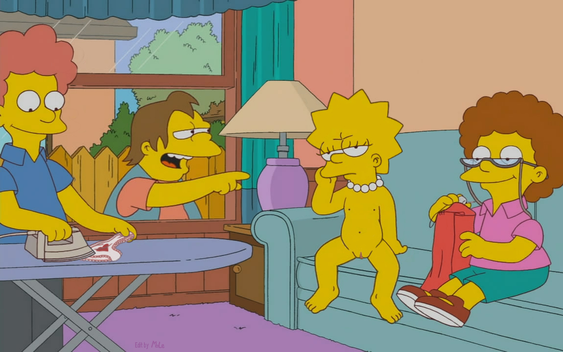 the simpsons naked hot girls kiss