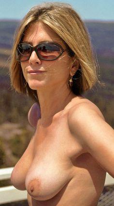 aniston boobs pancake Jennifer