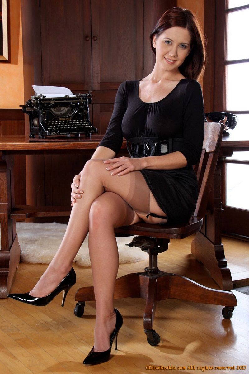 legs stockings secretary Sexy nylons
