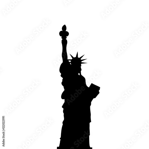 Vector liberty statue of