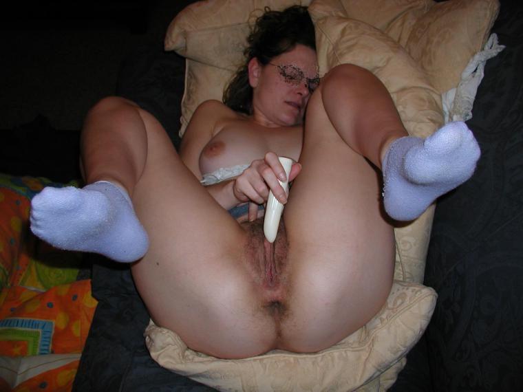 wife masturbating vibrator Mature with