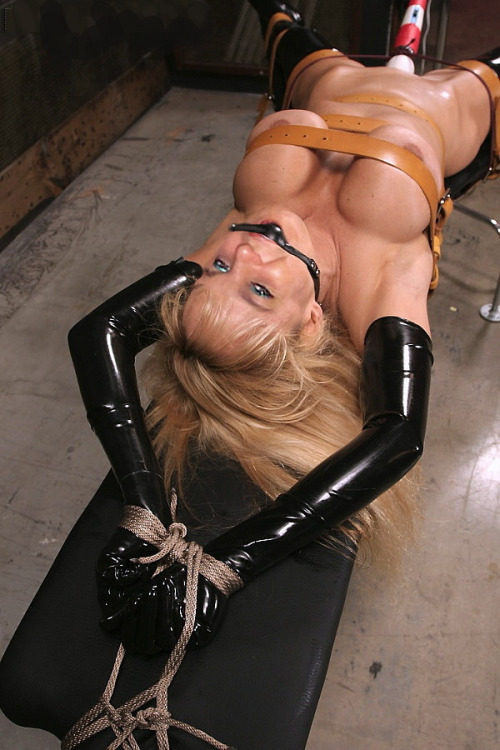 gag ball Girl bondage latex