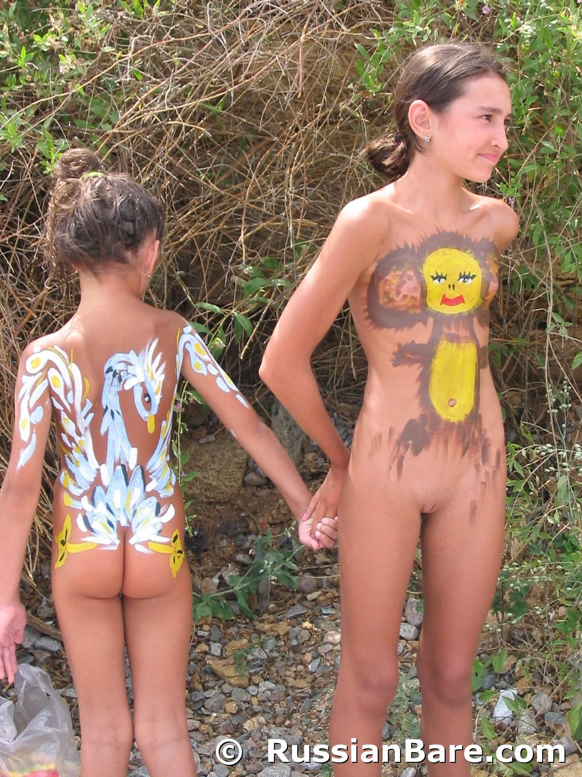 nudist nudism paint body pure Family