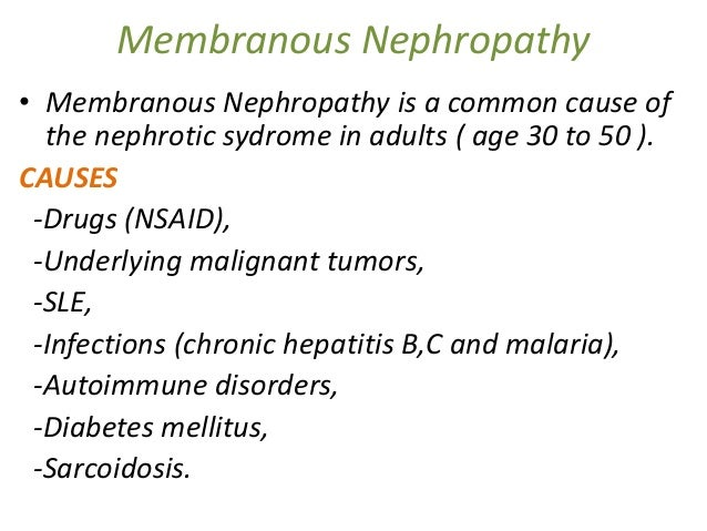 nephrotic syndrome Adult