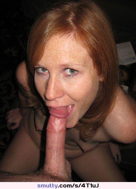 blowjob Freckled redhead