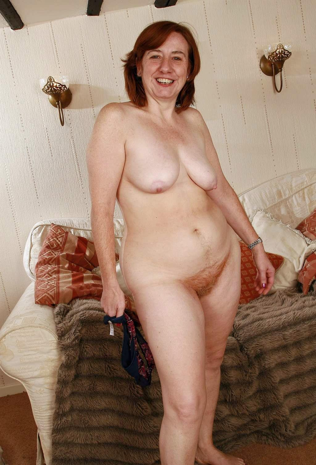 tits hairy Mature pussy saggy big