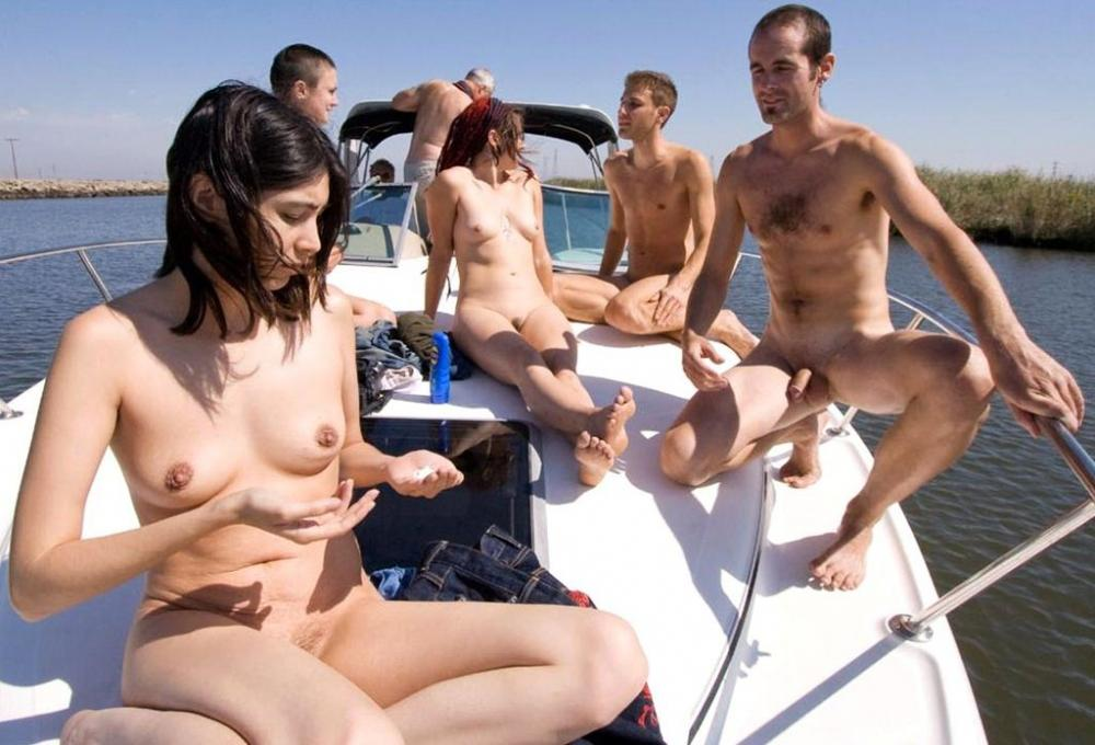 nude boat couples Naked on
